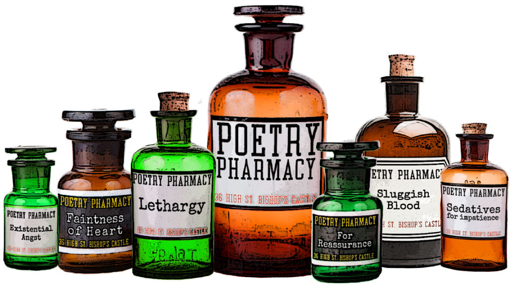 Poetry Pharmacy bottle logo